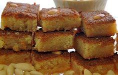 Arabic Food Recipes: Almonds Basbosa Recipe - How to Make Almonds Basbosa