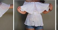 Δημιουργήστε μπλούζα μεταποιώντας μία παλιά φούστα