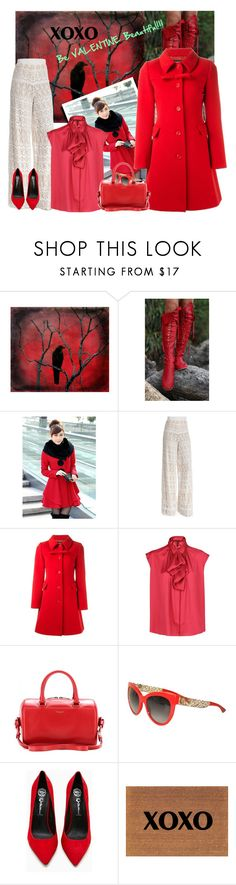 """""""VALENTINE Outfit💜"""" by vering ❤ liked on Polyvore featuring Vision, Gipsy, Alice + Olivia, Boutique Moschino, MANGO, Yves Saint Laurent, Dolce&Gabbana and Jeffrey Campbell"""