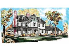 Victorian House Plan with 3565 Square Feet and 5 Bedrooms from Dream Home Source | House Plan Code DHSW37579