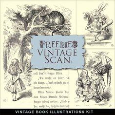 New Freebies Vintage Book Illustrations