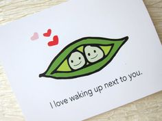 Cute Anniversary Card. Love Card. - Peas in a Pod. on Etsy, £2.56