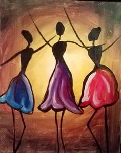 Find a wine and painting event at Pinot's Palette in Morristown for a unique, fun night out or private event venue! Book your painting class today! Canvas And Cocktails, Paint And Sip, Afro Art, Colorful Paintings, Love Painting, Ceramic Painting, African Art, Female Art, Diy Art