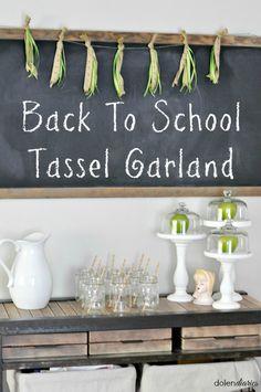 Back To School Tassel Garland | Dolen Diaries