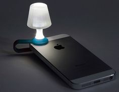 Luma Mobile Phone Nightlight - Clip on lampshade for your phone when using it's flashlight. Posted by Braxton, on Product Hunt.