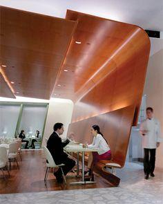 Brasserie, in Manhattan, Diller Scofidio's first restaurant design. Photo: Iwan Baan