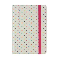 Trendz Folio Stand Case for iPad Mini 2 / iPad Mini - Polka Dot with microsuede interior $20.99