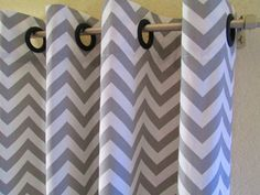 Curtains Pair 25 wide Premier Print storm grey white by LivePlush