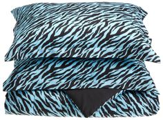 Comforter Sets Bedding Zebra Girls Bed Covers Mini Assorted Colors Soft Warm NEW Product Description: Add an exotic touch to any room in your home with this z Bedroom Bed, Cozy Bedroom, Girls Bedroom, Bedroom Decor, Bedroom Ideas, Zebra Bedding, Blue Bedding, Queen Comforter Sets, Bedding Sets