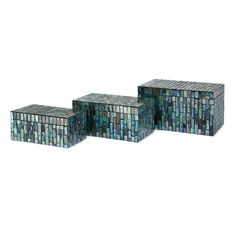Set of three Aramis Mosaic Boxes as seen in the REA Awards winning Visual Display by Absolutely Fabulous! Page 60 of Gifts and Decorative Accessories August issue.