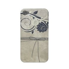 Blue Flowers iPhone4 Case-mate Cases