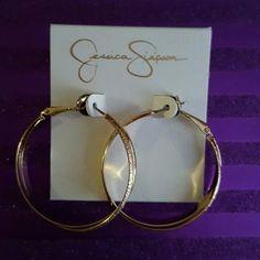 Jessica Simpson gold tone earrings Brand NEW Jessica Simpson Jewelry Earrings