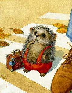 traveling hedgehog, artist not known - Animalarium