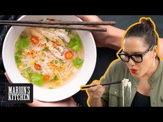 How To Make Thai Chicken Noodle Soup Street Food Style 🍜🍜🍜 Marion's Kitchen Thai-inspired food range. Marion's Kitchen is packed with simple and delicious Asian recipes and food ideas. Thai Noodle Soups, Thai Chicken Noodles, Ramen Soup, Asian Noodles, Spicy Recipes, Asian Recipes, Soup Recipes, Chinese Recipes, Free Recipes