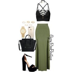 A fashion look from March 2018 featuring Topshop skirts, Boohoo sandals and Michael Kors watches. Browse and shop related looks.