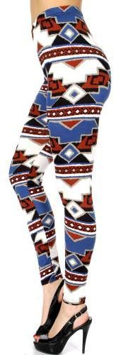 Aztec Printed Leggings One Size