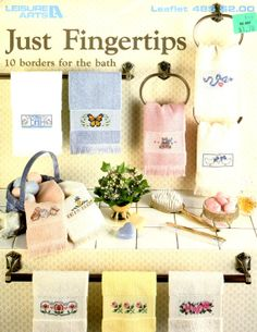 Just Fingertips cross stitch book by MillersCrafts on Etsy, $1.50