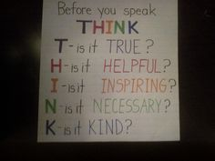 Great to go along with anti-bullying lesson, I gotta remember this in meetings!