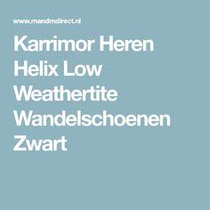 Karrimor Heren Helix Low Weathertite Wandelschoenen Zwart