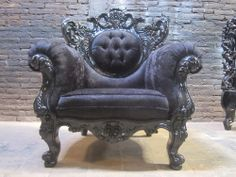 Made to order Bespoke Designer Living Room Gothic Armchair