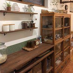 Japanese Modern House, Japanese Home Design, Japanese Interior, Open Kitchen Cabinets, Minimalist Kitchen, Oriental Furniture, Interior Design Kitchen, Kitchen Furniture, Home Kitchens