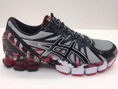 b4cdfba179c ASICS Mens GEL Sendai 3 Running Shoe Black Onyx Red