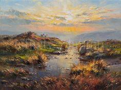"""Setting Sun, Curbar Edge"" by Rex Preston - limited edition print"