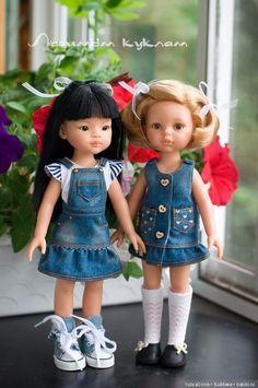 Джинсовая коллекция на подружек от Paola Reina / Одежда для кукол / Шопик. Продать купить куклу / Бэйбики. Куклы фото. Одежда для кукол