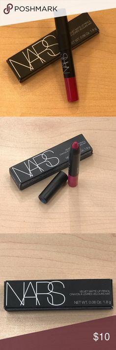 """8ff66271ff6 NARS Velvet Matte Lip Pencil 5855 Let s Go Crazy oz """"sample"""" size velvet  matte lip pencil"""