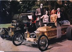 The Munsters and their fine automobiles. Watch the 1966 'Munsters Go Home' movie and see a good amount of film footage of these Hot Rods ! - Craig