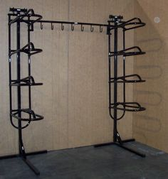 2 Quad Saddle Racks with Stands, 7 Hook Bridle Hooks