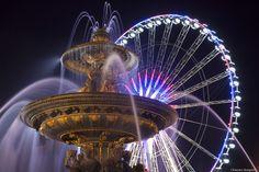 Place de la Concorde, Paris - Pose longue réalisée Place de la Concorde, Paris 8e