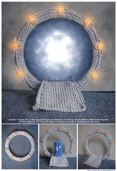 So, this is pretty much perfect.  If Stargate Was Made of Yarnby ~Sini-M on deviantART