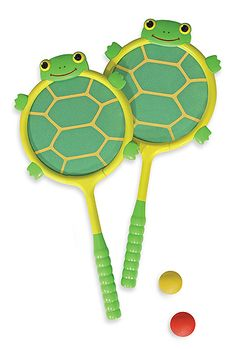 Must have! Tootle Turtle Racquet & Ball Set | Insect & Reptile Toys | Melissa and Doug