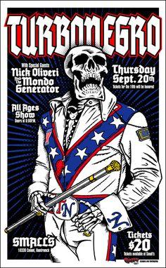Turbonegro. #musicart #concerts #gigposters http://www.pinterest.com/TheHitman14/music-poster-art-%2B/