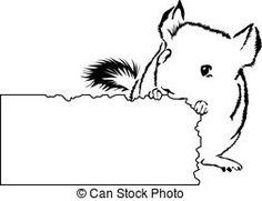 silhouette chinchilla clip art | Chinchilla Vector Clipart Royalty Free. 76 Chinchilla clip art vector We LOVE chinchillas at our house :) ...