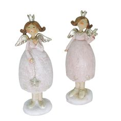 Engel für die Weihnachtsdeko zu hinstellen in der Trendfarbe rosa-weiß mit silber