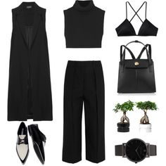 Culottes + Waistcoat by fashionlandscape on Polyvore featuring Mode, Victoria Beckham, Topshop, Joseph, Patagonia, Zara, Christopher Kane and Larsson & Jennings