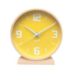 "Claude 8"" Round Mantel Clock - love the yellow"