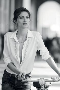 Elisa Sednaoui by Peter Lindbergh for Buccellati 2015 P.s.....campo di Oddio....ha-ha :) Grazie.....UNI&Co...;)