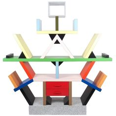 Carlton Bookcase Roomdivider by Ettore Sottsass for Memphis. Post-Modern, 1995, Italy.