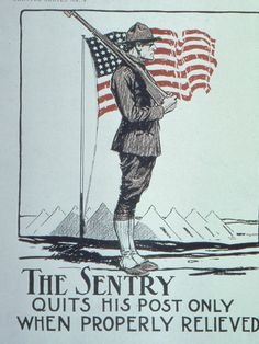 #WWI War #Poster. The Sentry quits his post only when properly relieved. $12.99. On VintPrint.com.