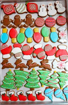 our childhood christmas memories include delicious decorative cookies.