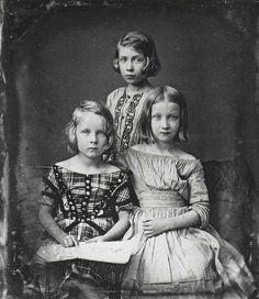 Gustav Oehme: Drei Mädchen, 1845 (Daguerreotypie)