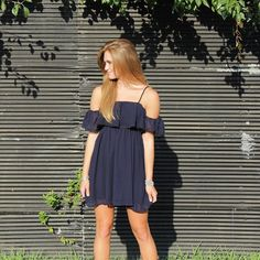 Get this dress online tonight! Wear it with the straps or without!  #newarrivals #offtheshoulder #LBVBgirls #shoplbvb