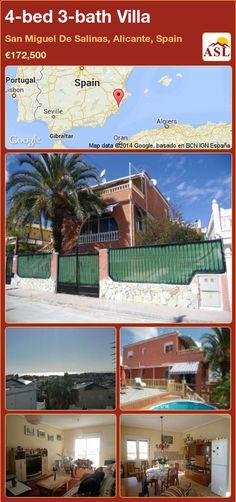 4-bed 3-bath Villa in San Miguel De Salinas, Alicante, Spain ►€172,500 #PropertyForSaleInSpain