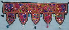Indian-embroidered-toran-door-valances-wall-hanging-Vintage-Window-Home-Decor