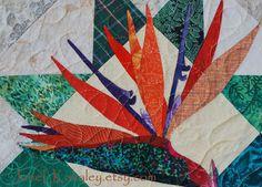Quilt Pattern  PDF  Bird of Paradise Applique Art by JaneLKakaley, $10.00