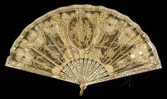 Fan Made Of Mother-Of-Pearl. Silk, Metallic, Sequins And Metal - French   c.1900-1915 The Metropolitan Museum Of Art