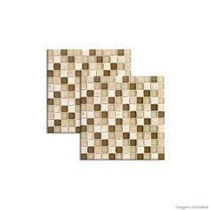 Pastilha de vidro 2,3x2,3cm placa 30x30cm sand stone Crystalcor - Telhanorte